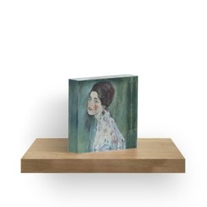 Stolen Art - Portrait of a Lady by Gustav Klimt Acrylic Blocks