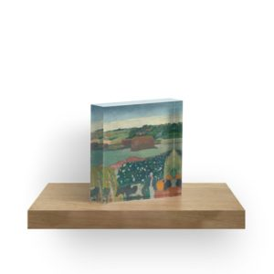 Haystacks in Brittany Oil Painting by Paul Gauguin Acrylic Blocks
