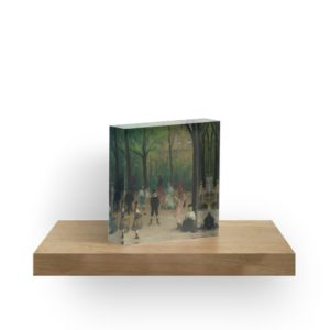 Luxembourg Gardens Oil Painting by William James Glackens Acrylic Blocks