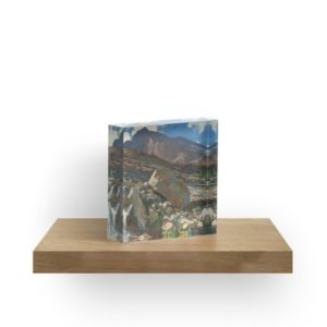 Simplon Pass Oil Painting by  John Singer Sargent Acrylic Blocks