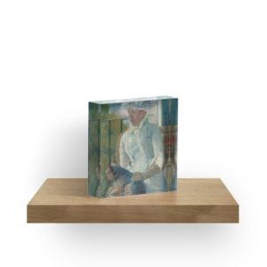 Young Girl at a Window Oil Painting by Mary Stevenson Cassatt Acrylic Blocks