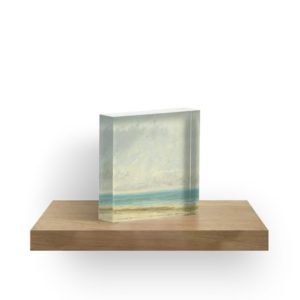 Calm Sea Oil Painting by Gustave Courbet Acrylic Blocks
