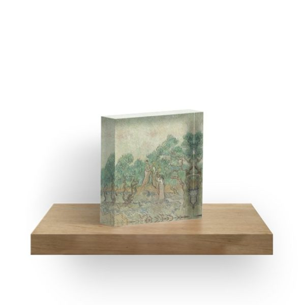 The Olive Orchard by Vincent van Gogh - Classic Art Acrylic Blocks