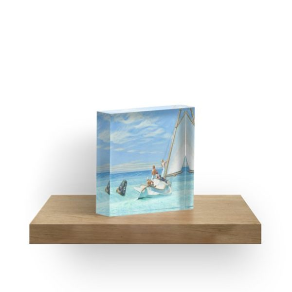 Ground Swell Oil Painting by Edward Hopper Acrylic Blocks