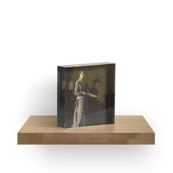 Singing a Pathetic Song Oil Painting by Thomas Eakins Acrylic Blocks
