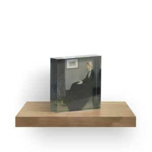 Whistlers Mother Oil Painting by James McNeill Whistler Acrylic Blocks