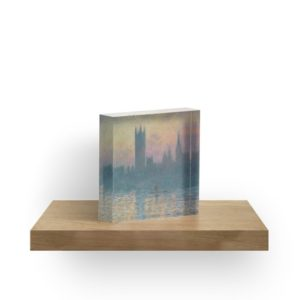 The Houses of Parliament  Sunset by Claude Monet Acrylic Blocks