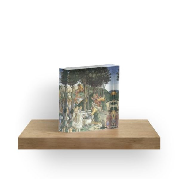 Trials of Moses Painting by Botticelli - Sistine Chapel Acrylic Blocks