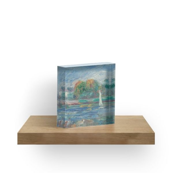 The Blue River Oil Painting by Auguste Renoir Acrylic Blocks