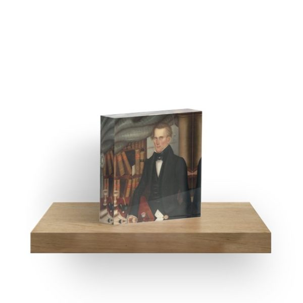 Vermont Lawyer Oil Painting by Horace Bundy Acrylic Blocks