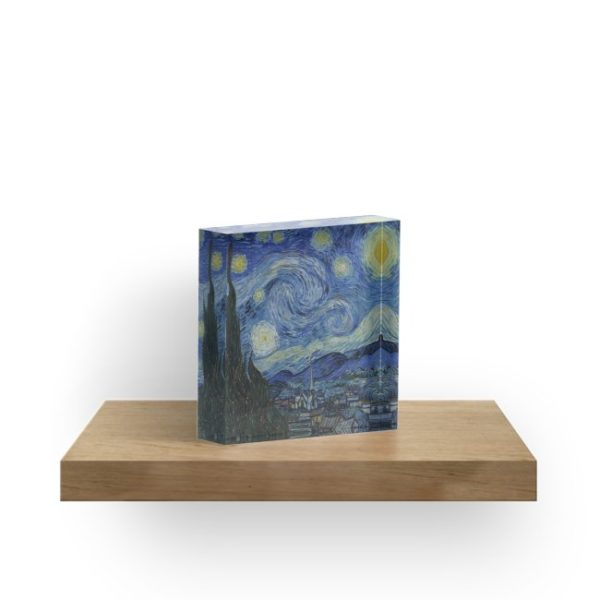 Starry Night Oil painting by Vincent van Gogh Acrylic Blocks