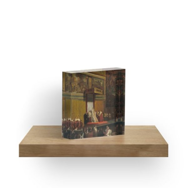 Pope Pius VII in the Sistine Chapel Oil Painting by Jean-Auguste-Dominique Ingres Acrylic Blocks