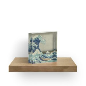 The Classic Japanese Great Wave off Kanagawa by Hokusai Acrylic Blocks