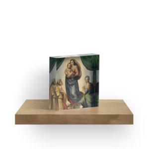 The Sistine Madonna Oil Painting by Raphael Acrylic Blocks