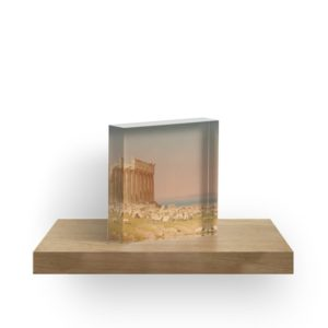 Ruins of the Parthenon Oil Painting by Sanford Robinson Gifford Acrylic Blocks