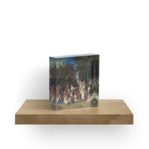 The Feast of the Gods Painting by Giovanni Bellini and Titian Acrylic Blocks
