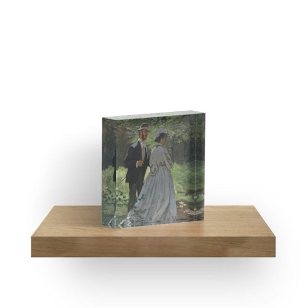 Bazille and Camille Painting by Claude Monet Acrylic Blocks