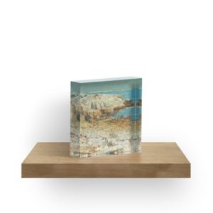 A North East Headland Oil Painting by Childe Hassam Acrylic Blocks