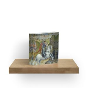Saint George and the Dragon Oil Painting by Rogier van der Weyden Acrylic Blocks