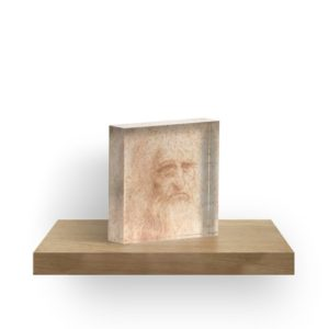 Classic Art - Leonardo da Vinci by Leonardo da Vinci self portrait Acrylic Blocks