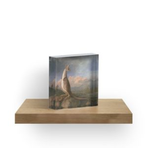 The Kongouro Oil Painting by Australian Artist George Stubbs Acrylic Blocks