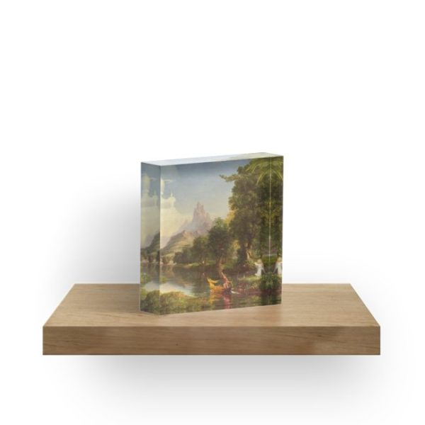 The Voyage of Life Youth Painting by Thomas Cole Acrylic Blocks