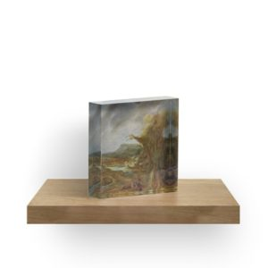 Stolen Art - Landscape with an Obelisk by Govert Flinck Acrylic Blocks