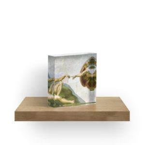 The Creation of Adam Painting by Michelangelo Sistine Chapel Acrylic Blocks