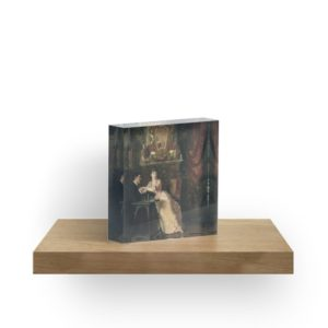 The Proposal Oil Painting by Knut Ekwall Acrylic Blocks