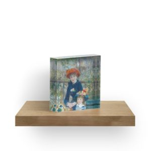 Two Sisters on the Terrace Oil Painting by Auguste Renoir Acrylic Blocks