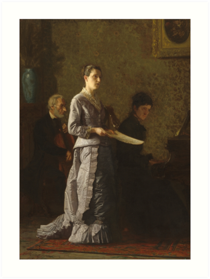 Singing a Pathetic Song Oil Painting by Thomas Eakins Art Prints