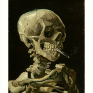 Skull of a Skeleton with Burning Cigarette by Vincent van Gogh Art Prints