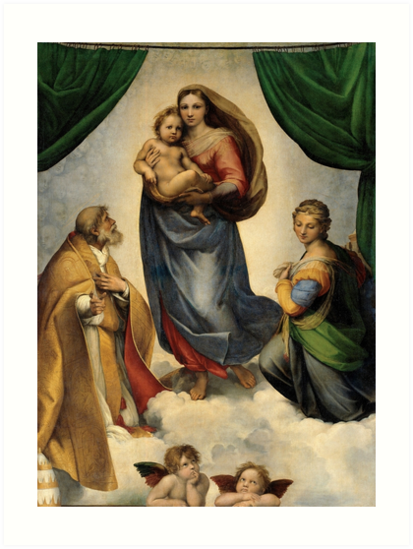 The Sistine Madonna Oil Painting by Raphael Art Prints