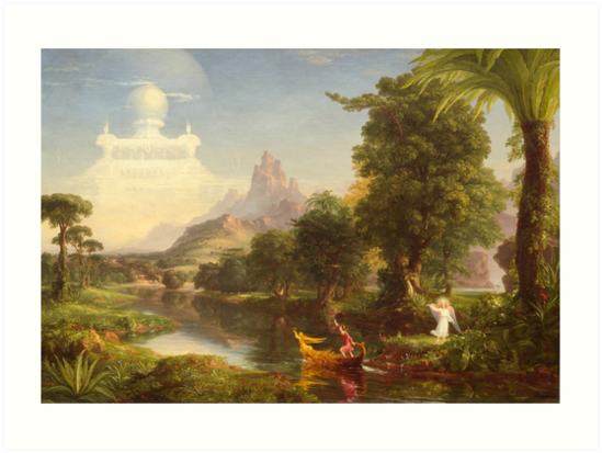 21d43779a8 The Voyage of Life Youth Painting by Thomas Cole Art Prints - Old ...