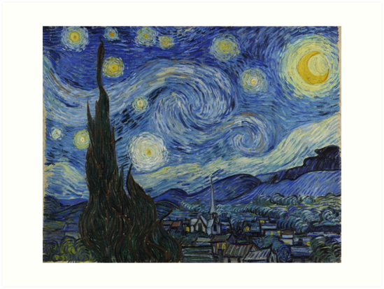 Starry Night Oil painting by Vincent van Gogh Art Prints