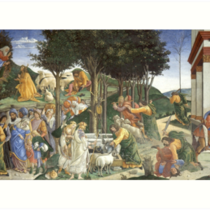 Trials of Moses Painting by Botticelli - Sistine Chapel Art Prints