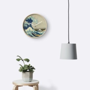 The Classic Japanese Great Wave off Kanagawa by Hokusai Clocks