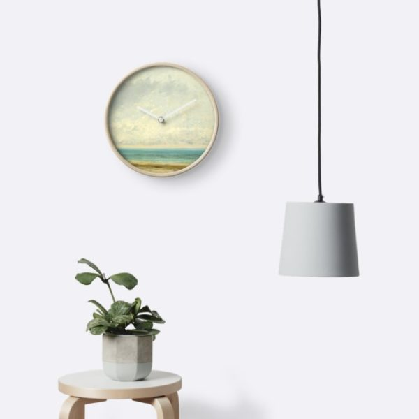Calm Sea Oil Painting by Gustave Courbet Clocks