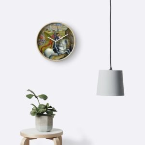 Saint George and the Dragon Oil Painting by Rogier van der Weyden Clocks