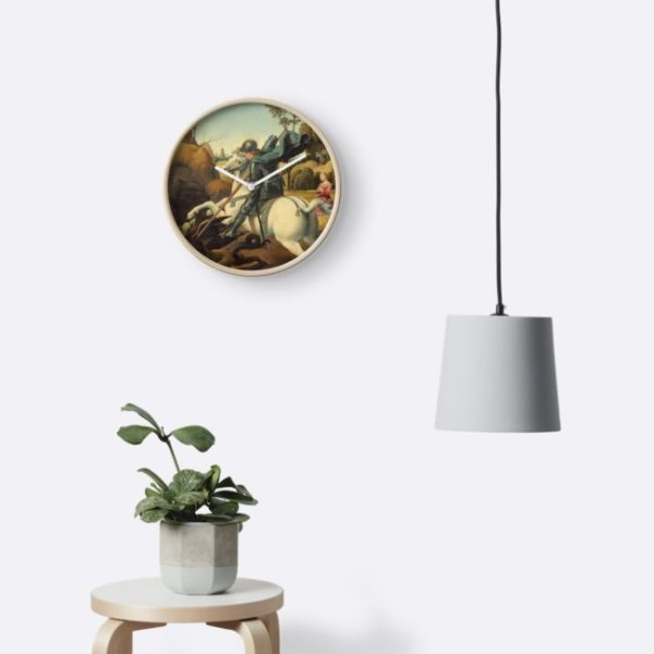 Saint George and the Dragon Oil Painting By Raphael Clocks