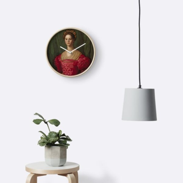 A Young Woman and Her Little Boy Oil Painting by Agnolo Bronzino Clocks