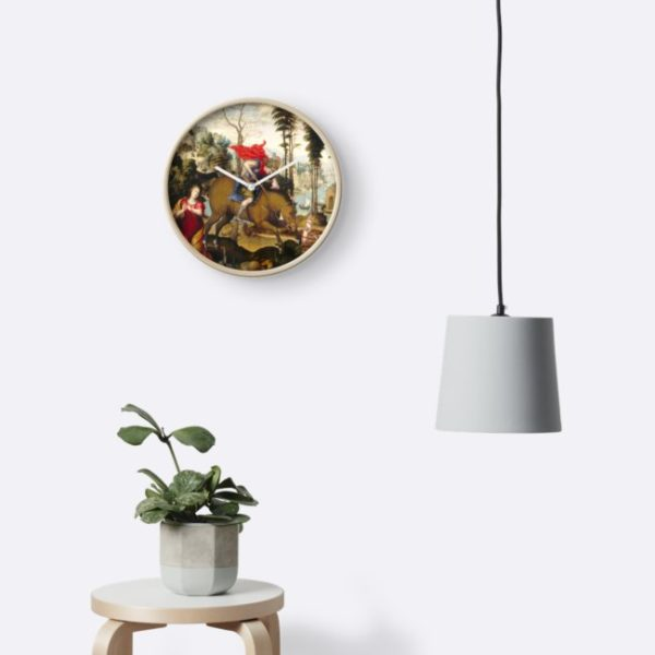 Saint George and the Dragon Oil Painting by Sodoma Clocks