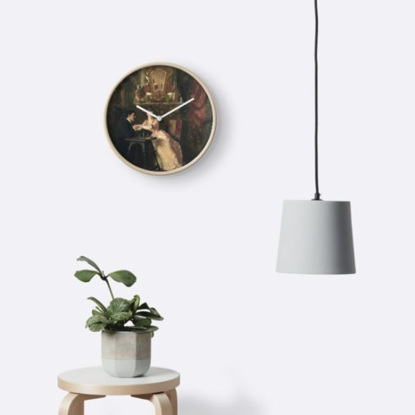 The Proposal Oil Painting by Knut Ekwall Clocks