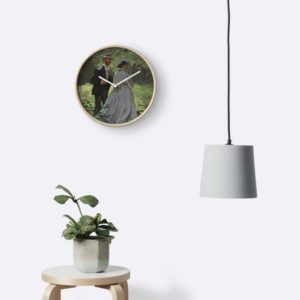 Bazille and Camille Painting by Claude Monet Clocks