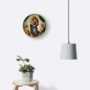 The Sistine Madonna Oil Painting by Raphael Clocks