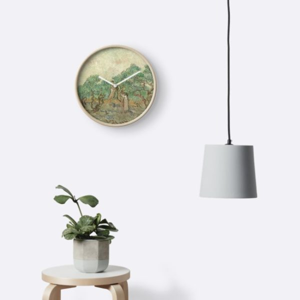 The Olive Orchard by Vincent van Gogh - Classic Art Clocks