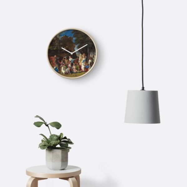 The Feast of the Gods Painting by Giovanni Bellini and Titian Clocks