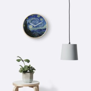Starry Night Oil painting by Vincent van Gogh Clocks