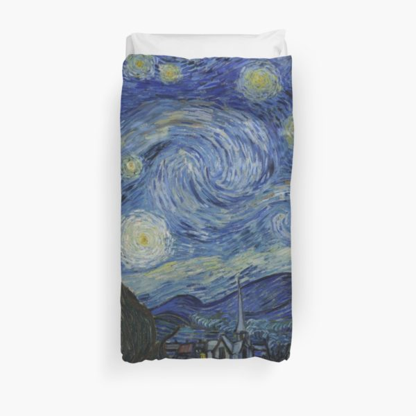Starry Night Oil painting by Vincent van Gogh Duvet Covers