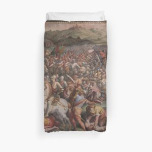 Classic Art The battle of Marciano in Val di Chiana By Giorgio Vasari Duvet Covers